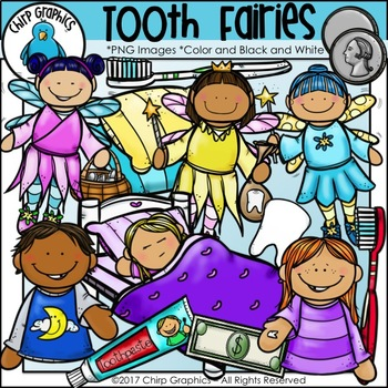 Tooth Fairy Clip Art - Chirp Graphics