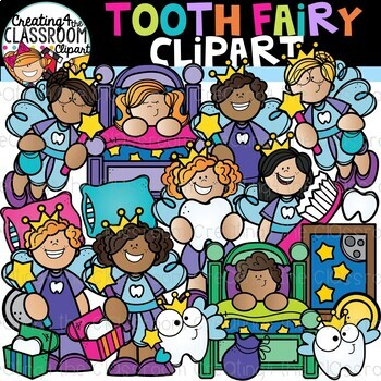 Tooth Fairy Clipart {Dental Clipart}