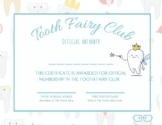 Tooth Fairy Club Certificate