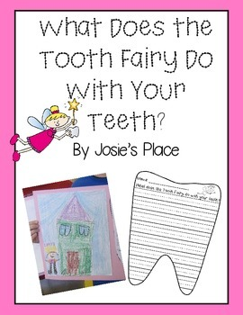 Tooth Fairy Creative Writing Paper and Prompt