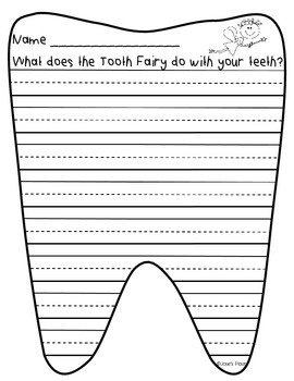 Tooth Fairy Handwriting
