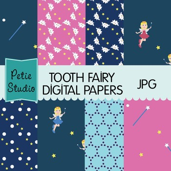 Tooth Fairy Digital Papers, First Lost Tooth Digital Paper
