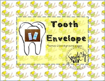 Tooth Fairy Envelopes and Background pages