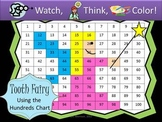 Tooth Fairy Hundreds Chart Fun - Watch, Think, Color Game!