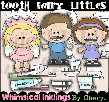 Tooth Fairy Littles Clipart Collection