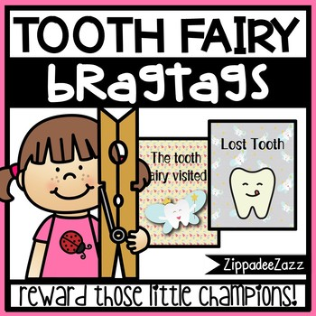 Tooth Fairy / Lost Tooth Brag Tags - 1 different design - 15 per page
