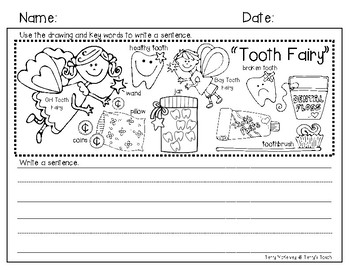 Tooth Fairy Writing Paper and Rubric
