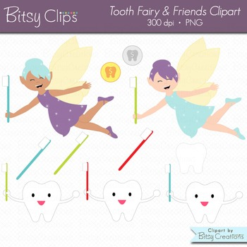 Tooth Fairy and Friends Clipart Commercial Use Clip Art