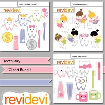Tooth Fairy and teeth Clip art Bundle (3 packs)