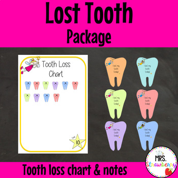 Tooth Loss Chart and Lost Tooth Take-Home Card