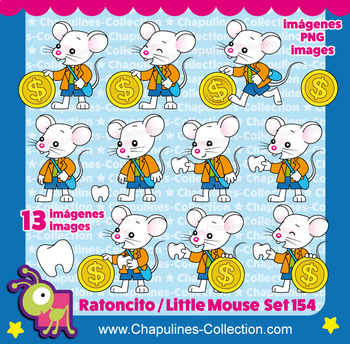 Tooth Mouse Clipart, Ratoncito Pérez Set 154