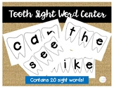 Tooth Sight Word Literacy Center