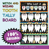 Tooth Tally Board in Witch & Wizard Theme - 100% Editable