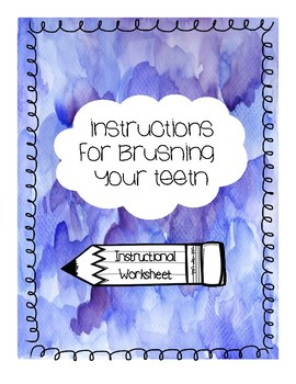 Tooth Template for Writing Instructions for  Brushing Your Teeth