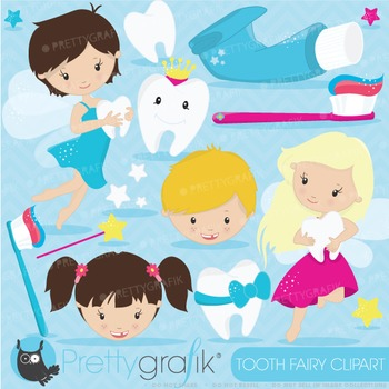 Tooth fairy clipart commercial use, vector graphics, digital - CL625