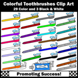 Toothbrush Clip Art, Toothpaste Clipart for Commercial Use SPS