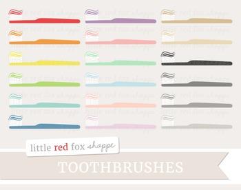 Toothbrush Clipart; Bathroom