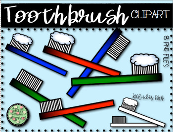 Toothbrush Clipart Set