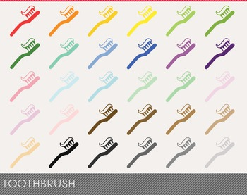 Toothbrush Digital Clipart, Toothbrush Graphics, Toothbrush PNG