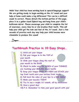 Toothbrush Practice Page for R Production