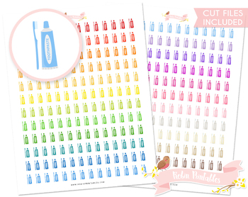 Toothbrush Printable Planner Stickers
