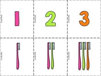 Toothbrush Tallies 1-10