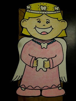 Toothfairy paper bag puppet