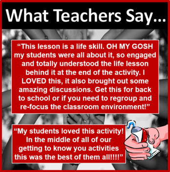 Classroom Management Toothpaste Activity