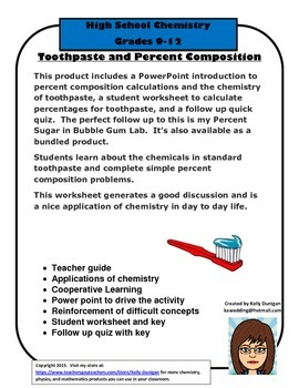 Toothpaste: Chemicals and Composition