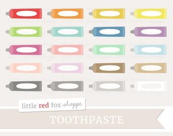 Toothpaste Clipart; Bathroom, Tube
