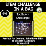 Toothpick Challenge:  STEM Challenge in a Bag