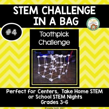 Toothpick Challenge:  STEM Challenge in a Bag