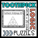 Toothpick Logic Puzzles - Distance Learning