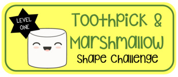 Toothpick Marshmallow Shape Challenge Level 1 By Simply Stem Tpt