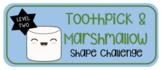 Toothpick & Marshmallow Shape Challenge Level 2