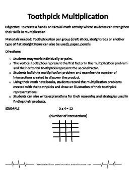 Toothpick Multiplication