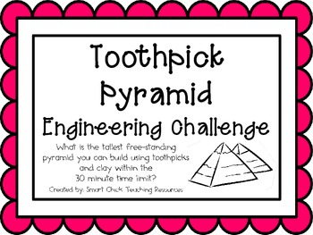 Toothpick Pyramid: Engineering Challenge Project ~ Great STEM Activity!