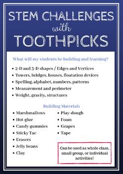 Toothpick STEM Challenge