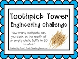 Toothpick Tower: Engineering Challenge Project ~ Great STEM Activity!