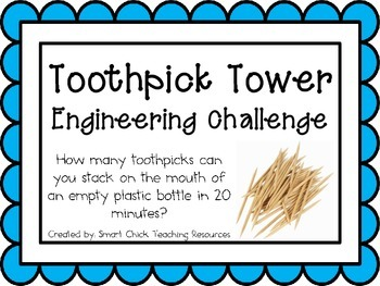 Toothpick Tower: Engineering Challenge Project ~ Great STE