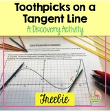 Toothpicks on a Tangent Line Calculus Freebie