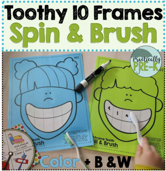 Teethy 10 Frames: Dentist Game + 10 Frame Task Cards