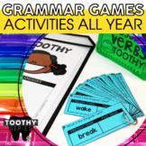 Grammar Toothy® Task Cards | Grammar Activities | Grammar Practice Review
