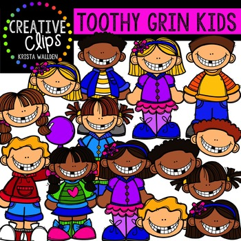 Toothy Grin Kids {Creative Clips Digital Clipart}