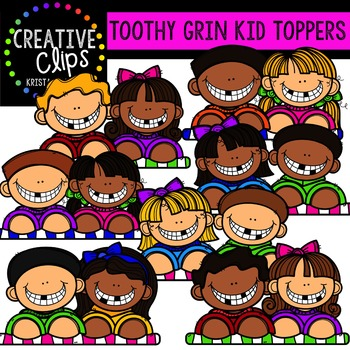 Toothy Grin Toppers {Creative Clips Digital Clipart}