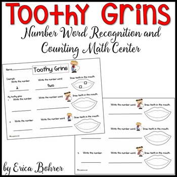 Toothy Grins: Number Word Recognition and Counting Math Center