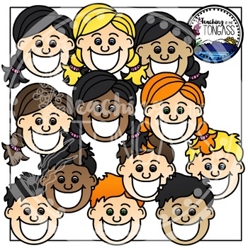 Toothy Kids Clipart