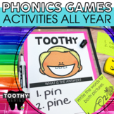2nd Grade Phonics Toothy® Task Kits | First Grade Phonics Games | Task Cards