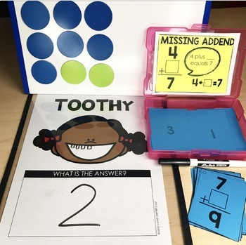 Math Toothy 174 Task Kits Math Centers Math Games By Lucky Little Learners