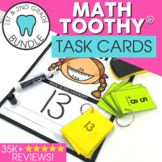 1st and 2nd Grade Math Toothy® Task Cards Bundle   Math Games   Math Centers